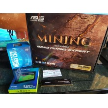ASUS B250 MINING EXPERT - Motherboard - ATX - LGA1151 Socket + Intel Celeron G3930 LGA 1151+ A-Data SP580 120GB SSD+ Kingston Hyper X Fury 4GB Promo mining Bundle